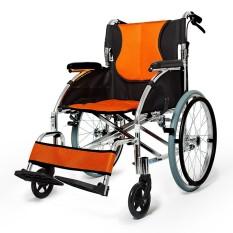 Kursi Roda Lipat Portabel Tua Manusia Tangan Kursi Roda Mobil Penebalan dan Ultra Ringan Cacat Langkah Driver Trolley untuk Lansia Senior, wanita Hamil, Cacat Pasien Dll. -Internasional