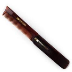 FRD 1541 London Folding Pocket Sisir Rambut dan Jenggot dengan Klip (Bc5)-Intl