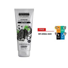 Diskon Besarfreeman Detoxifying Charcoal Black Sugar Mud Mask Original 1 Buah Gratis Random Snp Animal Mask 1 Buah