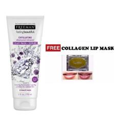 Spesifikasi Freeman Feeling Beautiful Diamond Mineral Clay Mask Scrub 100 Original Free Collagen Lip Mask 1 Pcs Murah