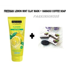 Beli Freeman Lemon Mint Clay Mask Hanasui Coffee Soap 1 Buah Paket Hemat Freeman Asli