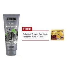 Obral Freeman Polishing Charcoal Black Sugar F*c**l Polishing Mask Gel Mask Scrub 1 Buah Gratis Collagen Eye Mask 1 Buah Murah
