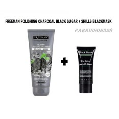 Beli Barang Freeman Polishing Charcoal Black Sugar F*C**L Polishing Mask Gel Mask Scrub 1 Buah Shills Blackmask 1 Buah Paket Hemat Online