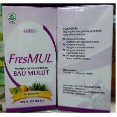 Jual Fresmul Kapsul Herbal Menghilangkan Bau Mulut Paket 2 Pcs Kapsul Original