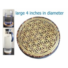 Toko Dari Amerika Serikat Zzybia Orgonite Orgone 4 Flower Of Life Coaster Pengisian Air Plate Energy Reversible Dome B01Ihm0Bx8 Intl Termurah