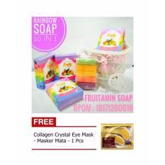 Fruity Extracts 10in1 Rainbow Soap - Sabun Fruitamin BPOM + Gratis Collagen Eyemask 1 pcs