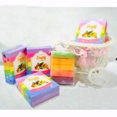 Fruity Rainbow Soap 10 in 1 Whitening Soap Fruitamin Sabun Pemutih Badan
