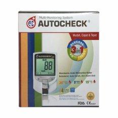 GEA Autocheck Alat Cek Darah 3 in 1 untuk Pengecekan Kadar Gula, Kolestrol dan Asam Urat