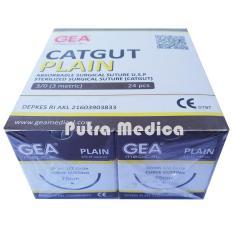 Spesifikasi Gea Benang Heacting Plain Catgut 3 Dengan Jarum Gea