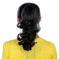 Spesifikasi Generik Wavy Curly Claw Clip On Hair Extension Ponytail Hitam Murah