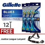 Dapatkan Segera Gillette Pisau Cukur Blue Simple 3 Isi 12 4 X 3 Pack Free Landyard Gillette
