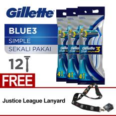 Beli Gillette Pisau Cukur Blue Simple 3 Isi 12 4 X 3 Pack Free Landyard Gillette Secara Angsuran