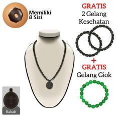 Ginsamyong Dark Brown Liontin Masjid Nabawi  Kalung & Gelang Kesehatan Original Bersertifikat