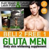 Beli Gluta Men Glutamen Original Suplemen Pemutih Badan Pria 100 Kapsul Lynae Mazthione Glucella Celena Mega Pynocare Online Jawa Barat