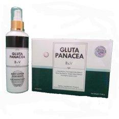 Miliki Segera Gluta Panacea Original Kemasan Strip 30 Kapsul Gluta Panacea Body Lotion Original