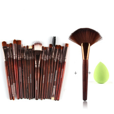 Anggun 22 Pcs Mata Sikat Khusus Powder foundation Brush Kuas Bibir Cheek Adalah Brush Tetes Air Bentuk Set 3 #-Intl