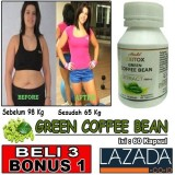 Jual Green Coffee Bean Pelangsing Badan Hendel 60 Kapsul Green Coffee Bean Grosir
