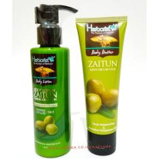Hafshop Paket 2 Herborist Body Butter 80 g- Body Lotion Zaitun 145 ml