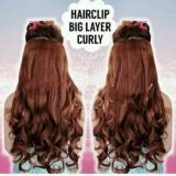 Jual Beli Hair Clip Curly Warna Coklat