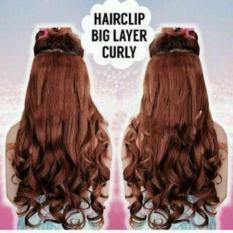 HAIR CLIP CURLY WARNA COKLAT