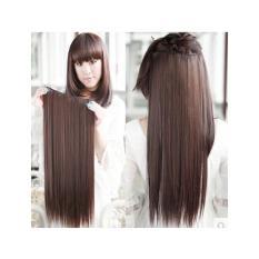 Jual Hair Clips Ekstension Lurus Panjang Dark Brown Ho1394 Satu Set