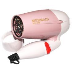 Hair Dryer Mini Folding /Mermaid MD 278 / Blow Rambut - Pink