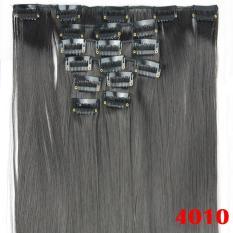 Hair Extension Perpanjangan Rambut model klip clip wigs long straight 60 cm 4010