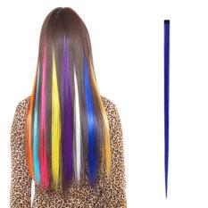 Ekstensi rambut Fashion wanita Lama Sintetis Klip Gradien Warna   Cosplay Potongan Rambut