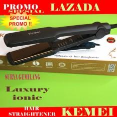 Review Hair Straightener Catok Kemei Km 329 Profesional Pelurus Rambut Temperatru Sushu Kemei