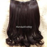 Jual Hairclip Blow Wavy 50Cm Premium Dark Brown Lengkap