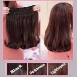 Review Hairclip Cantik Big Layer 40Cm Short Blow Light Brown Di Jawa Timur