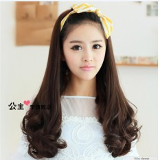 Hairclip Curly 60cm PREMIUM (Dark Brown)