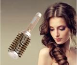 Hairdressing Curling Rambut Fuax Bulu Sikat Sehat Keramik Besi Bulat Sisir 53Mm Oem Murah Di Tiongkok
