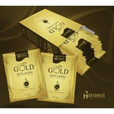 Harga Hanasui Gold Masker Wajah Naturgo 5 Box Isi 50 Sachet Seken