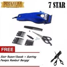 Happy King HK-900 Alat Cukur Rambut Hair Clipper Trimmer + Gratis Sisir Razor/Sasak + Gunting Penipis Rambut Bergigi
