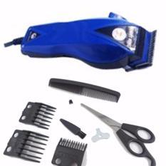 Happy King HK-900 Alat Cukur Rambut Hair Clipper Trimmer Mesin Potong Professional Groomer 3 Mata Pisau Tajam Hemat Energi - Biru Tua