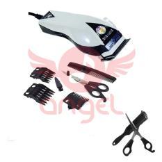 Promo Happy King Hk 900 Profesional Hair Clipper Trimmer Bundling Sisir Razor Dan Gunting Penipis Rambut Bergigi Putih