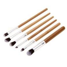 HB 6 Pcs Asli MFY Bambu Profesional Makeup Kosmetik Kuas Mata-Intl