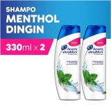 Promo Head Shoulders Shampoo Cool Menthol 330 Ml Pack Of 2 Murah