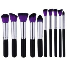 Kesehatan Kecantikan Sikat dan Aplikator Berkualitas Tinggi 10 Pcs/set Makeup Brush Ungu-Rambut Hitam Blush Brush Eye-Shadow Brush Beauty Makeup Tools-Intl