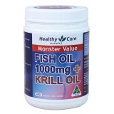 Promo Healthy Care Fish Oil 1000Mg Krill 400 Capsules Healthy Care