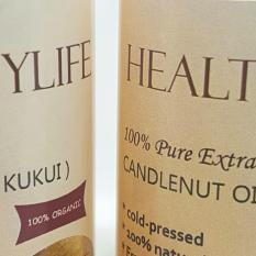 Healthylife candlenut oil minyak kemiri murni kukui asli tanpa campuran 100ml