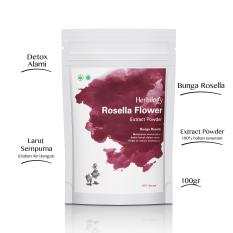 Herbilogy Rosella Flower (Bunga Rosella) Extract Powder 100g