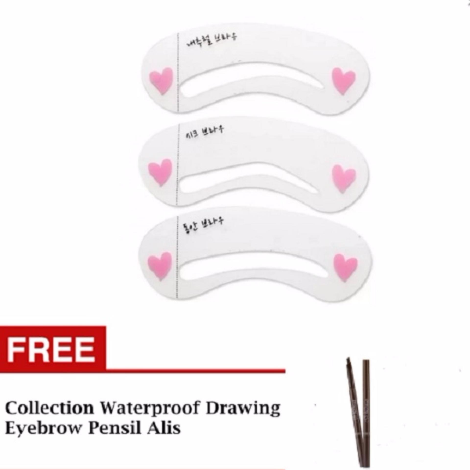 Jbs Mini Cetakan Alis Brow Class Pembersih Kuas Make Up Multi Colour Set 3 Mix Praktis Dan Simpel Penggunaan Nya Hg Eyebrow Stencil Pcs