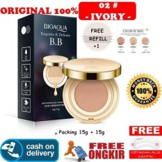 Review Hoki Cod 02 Ivory Bioaqua Exquisite And Delicate Bb Cream Air Cushion Pack Gold Case Spf 50 Foundation Make Up Wajah Free Refill Gratis Cetak Alis Cantik Premium