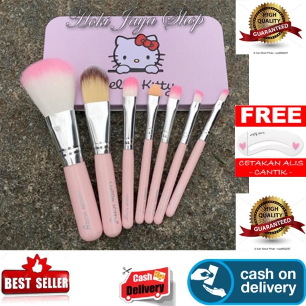 Unik HOKI COD - 7 Pcs Kitty Mini Makeup Brush Set Premium Quality Bulu Halus + Gratis