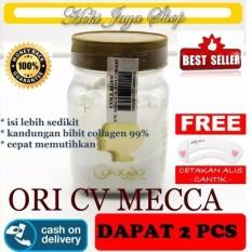 HOKI COD - Bibit Collagen Original CV. MECCA ANUGRAH - BITCOL Bibit Colagen Tutup Gold - 2 Botol + Gratis Cetak Alis Cantik - Premium