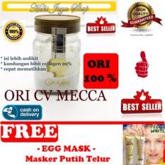 HOKI COD - Bibit Collagen Original CV. MECCA ANUGRAH - BITCOL Bibit Colagen Tutup Gold + Gratis Mask Egg White Peel Off - Masker Telur Premium - 1 Pcs