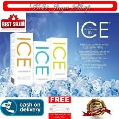 Hoki Cod - Cairan Air Soflens / Air Pembersih Softlens X2 Ice Solution 60ml / 60 Ml - Air Soflen + Gratis Cetak Alis Cantik - Premium By Hoki Jaya Shop.