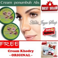 HOKI COD - Cream Alis New Original Premium - Penumbuh Dan Penebal Alis - 1 Pcs + Gratis Minyak Kemiri Al Khodry Cream Penumbuh Rambut - 1 Pcs